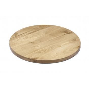 Tischplatte Eiche massiv 80 cm rund NAPOLI