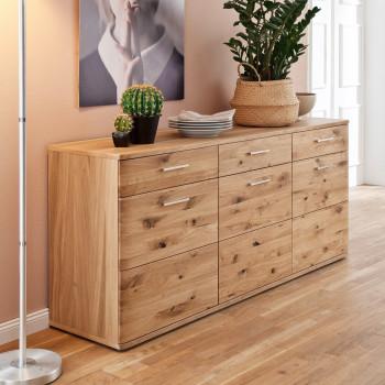 SANTORI von MCA Sideboard 180 cm 3-trg 3-Sk Asteiche Bianco