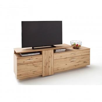 SANTORI von MCA TV Lowboard 210 cm 2-trg Asteiche Bianco