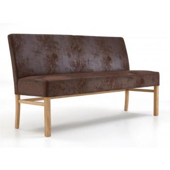 Sitzbank aus Stoff 140 cm mit Holzgestell Sophie