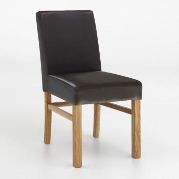 Esszimmerstuhl aus Kunstleder mit Holzgestell Sophie