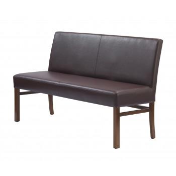 Sitzbank aus Kunstleder 140 cm mit Holzgestell Sophie