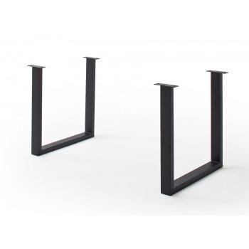 CALVERA Tischgestell U-Form anthrazit lackiert 2er Set
