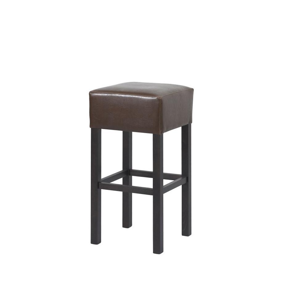 carlo barhocker kunstleder boston braun 02 gestell wenge kaufen m bel shop empinio24. Black Bedroom Furniture Sets. Home Design Ideas