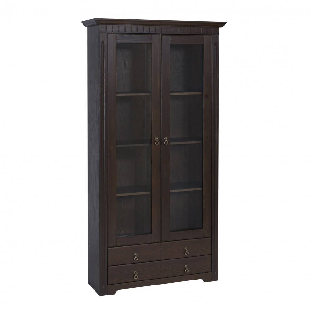 cordoba 4x regale vitrine bibliothek kiefer massiv kolonial lackiert kaufen m bel shop empinio24. Black Bedroom Furniture Sets. Home Design Ideas