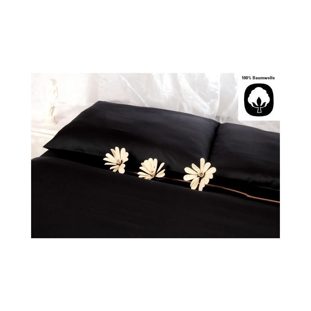 bettw sche 155x220 mako satin ms 102 schwarz kaufen m bel shop empinio24. Black Bedroom Furniture Sets. Home Design Ideas