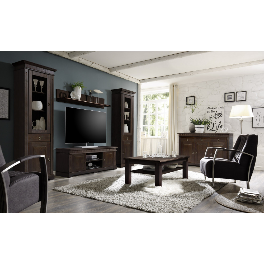 cordoba tv lowboard 2 cd wandregal kiefer massiv kolonial kaufen m bel shop empinio24. Black Bedroom Furniture Sets. Home Design Ideas
