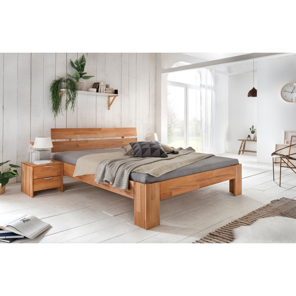 alice 2 doppelbett 200x200 kernbuche massiv ge lt kaufen. Black Bedroom Furniture Sets. Home Design Ideas