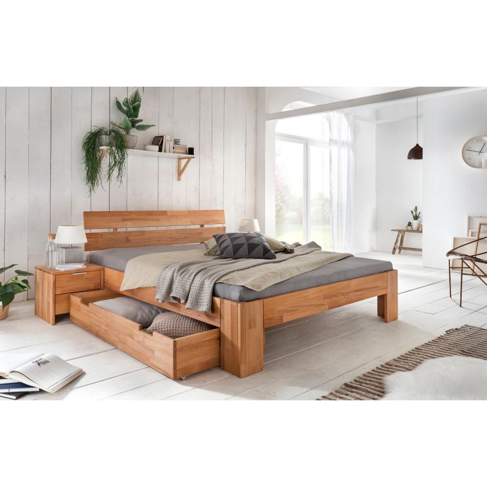 alice 2 nachtkommode kernbuche buche massiv ge lt kaufen m bel shop empinio24. Black Bedroom Furniture Sets. Home Design Ideas