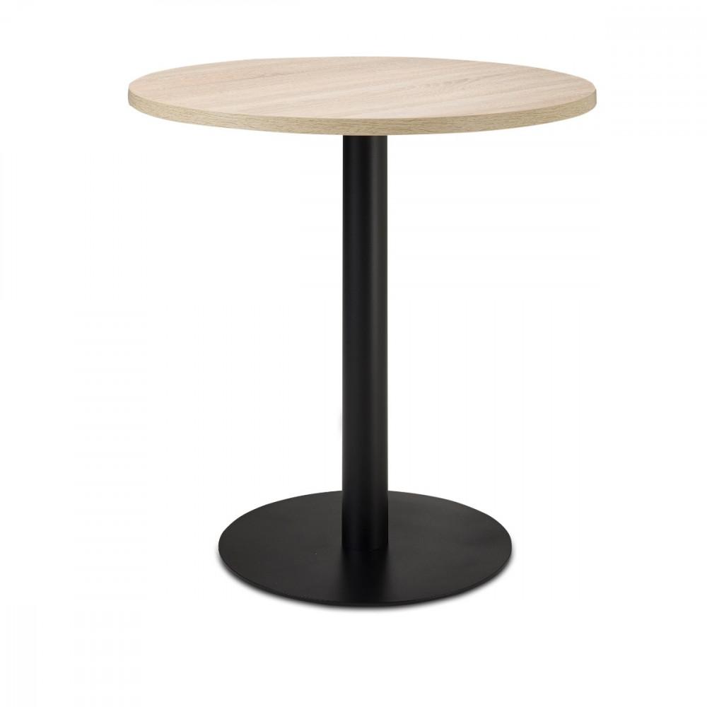 nizza gastro esstisch rund 80 cm eiche sonoma nb kaufen m bel shop empinio24. Black Bedroom Furniture Sets. Home Design Ideas