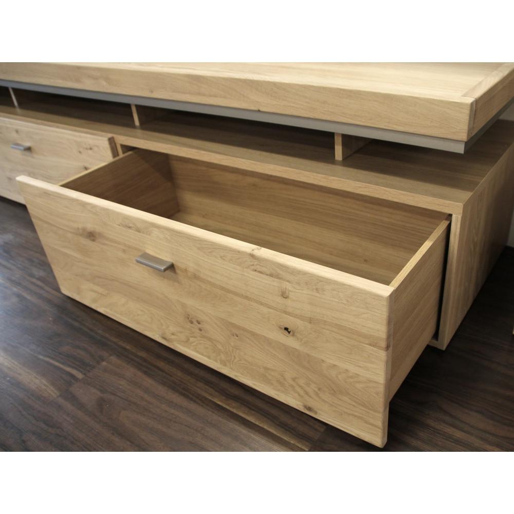 basel tv lowboard 220 cm 2 sk rechts asteiche teilmassiv kaufen m bel shop empinio24. Black Bedroom Furniture Sets. Home Design Ideas
