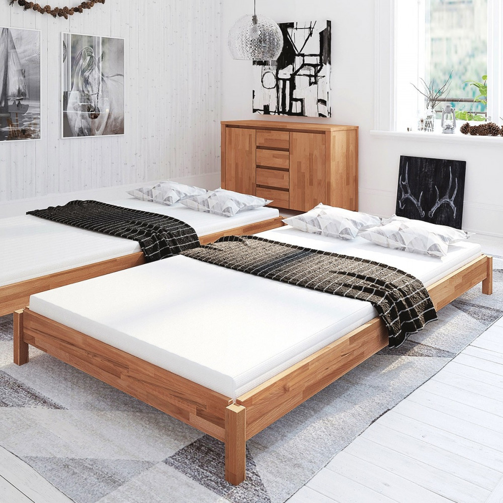borkum stapelbett 90x200 kernbuche tfk matratze kaufen. Black Bedroom Furniture Sets. Home Design Ideas
