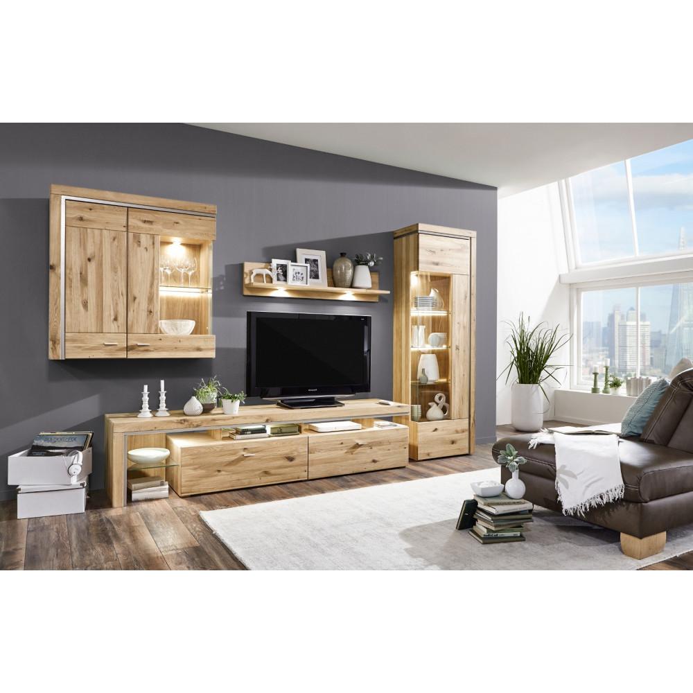basel h ngeschrank 2 trg glast r rechts asteiche teilmassiv kaufen m bel shop empinio24. Black Bedroom Furniture Sets. Home Design Ideas