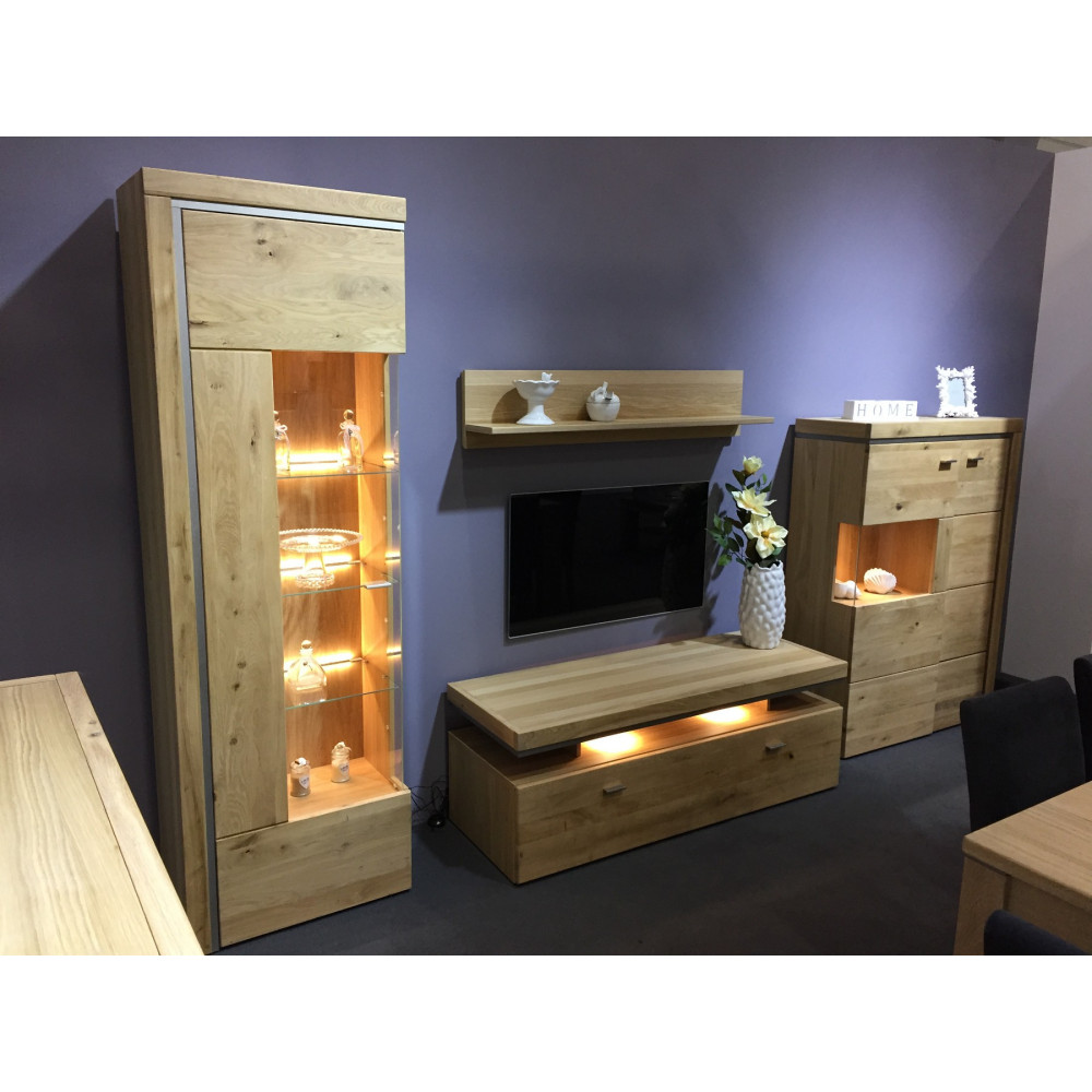 basel tv lowboard 140 cm 1 sk asteiche teilmassiv kaufen m bel shop empinio24. Black Bedroom Furniture Sets. Home Design Ideas