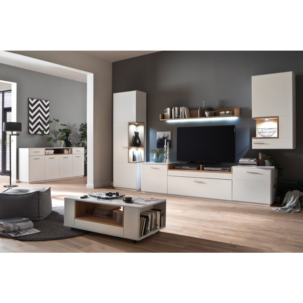 cesina von mca tv lowboard 240 cm 2 trg 1 sk wei matt. Black Bedroom Furniture Sets. Home Design Ideas