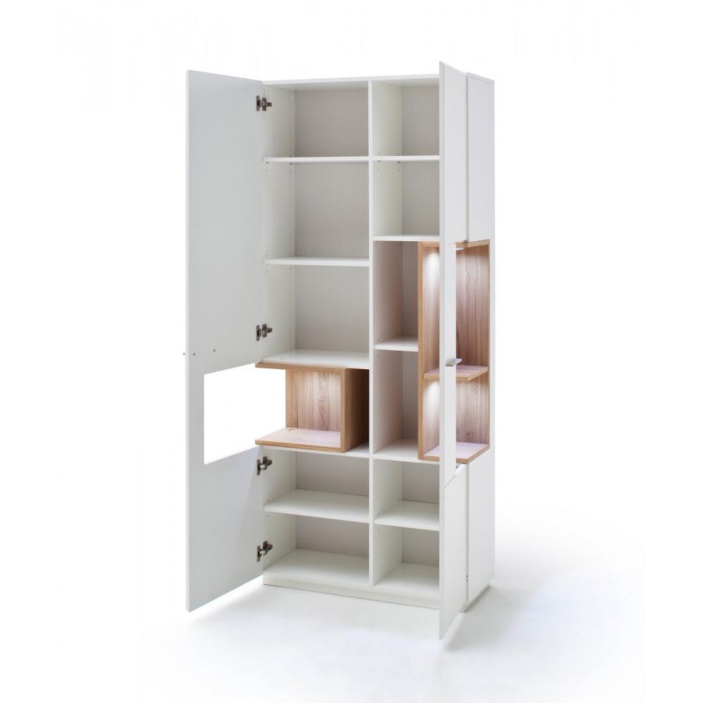 cesina von mca vitrine 2 trg wei matt asteiche kaufen m bel shop empinio24. Black Bedroom Furniture Sets. Home Design Ideas