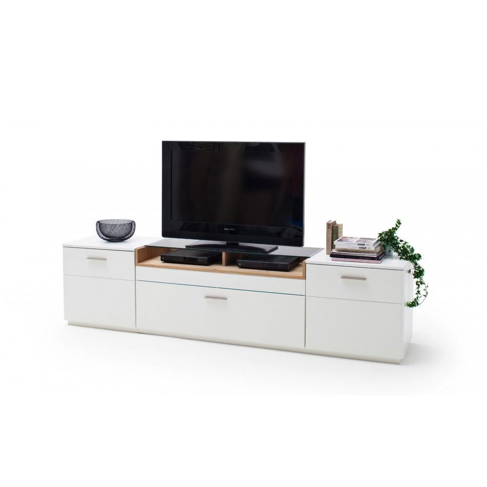 cesina von mca tv lowboard 240 cm 2 trg 1 sk wei matt asteiche kaufen m bel shop empinio24. Black Bedroom Furniture Sets. Home Design Ideas
