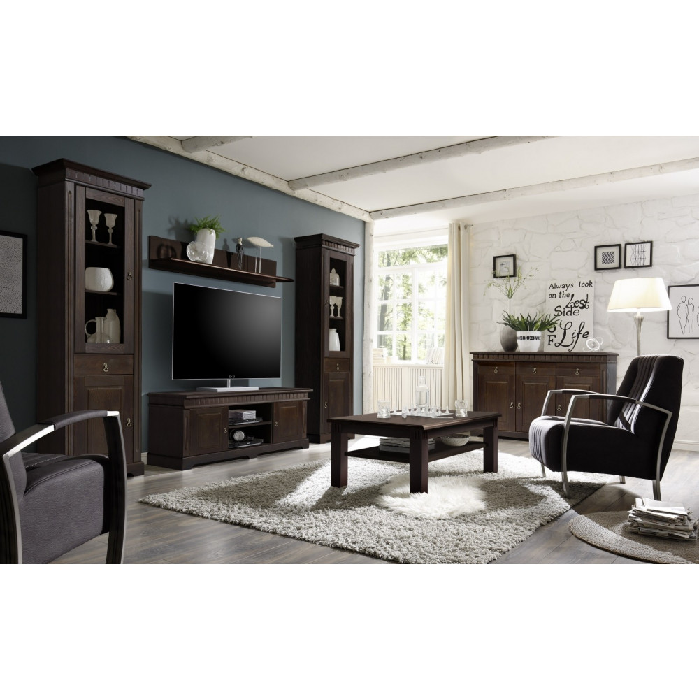 cordoba wohnwand 4 teilig kiefer massiv kolonial kaufen m bel shop empinio24. Black Bedroom Furniture Sets. Home Design Ideas