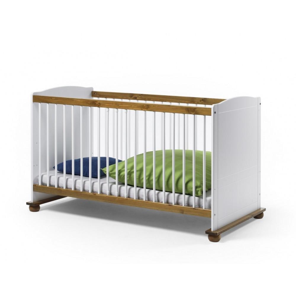 fiore kinderbett 70x140 bett kiefer massiv weiss kaufen. Black Bedroom Furniture Sets. Home Design Ideas