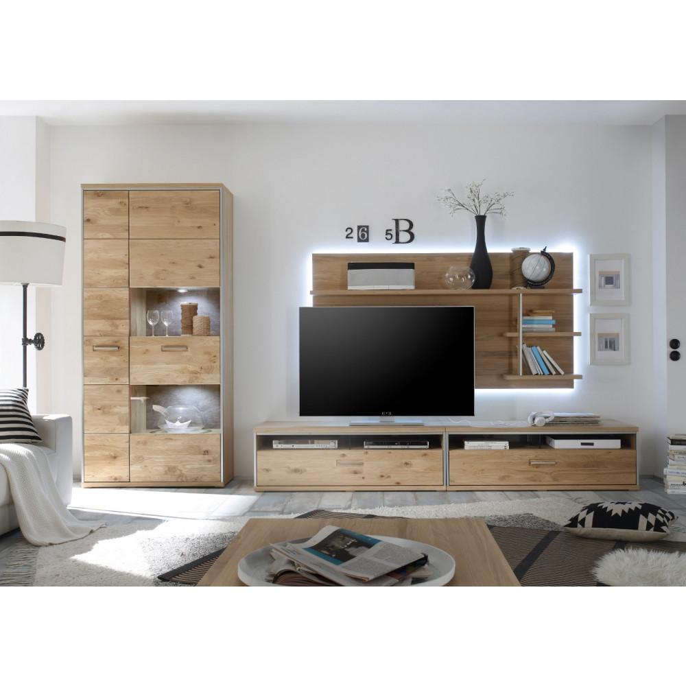 espero von mca wohnwand iii 4 tlg asteiche bianco teilmassiv kaufen m bel shop empinio24. Black Bedroom Furniture Sets. Home Design Ideas