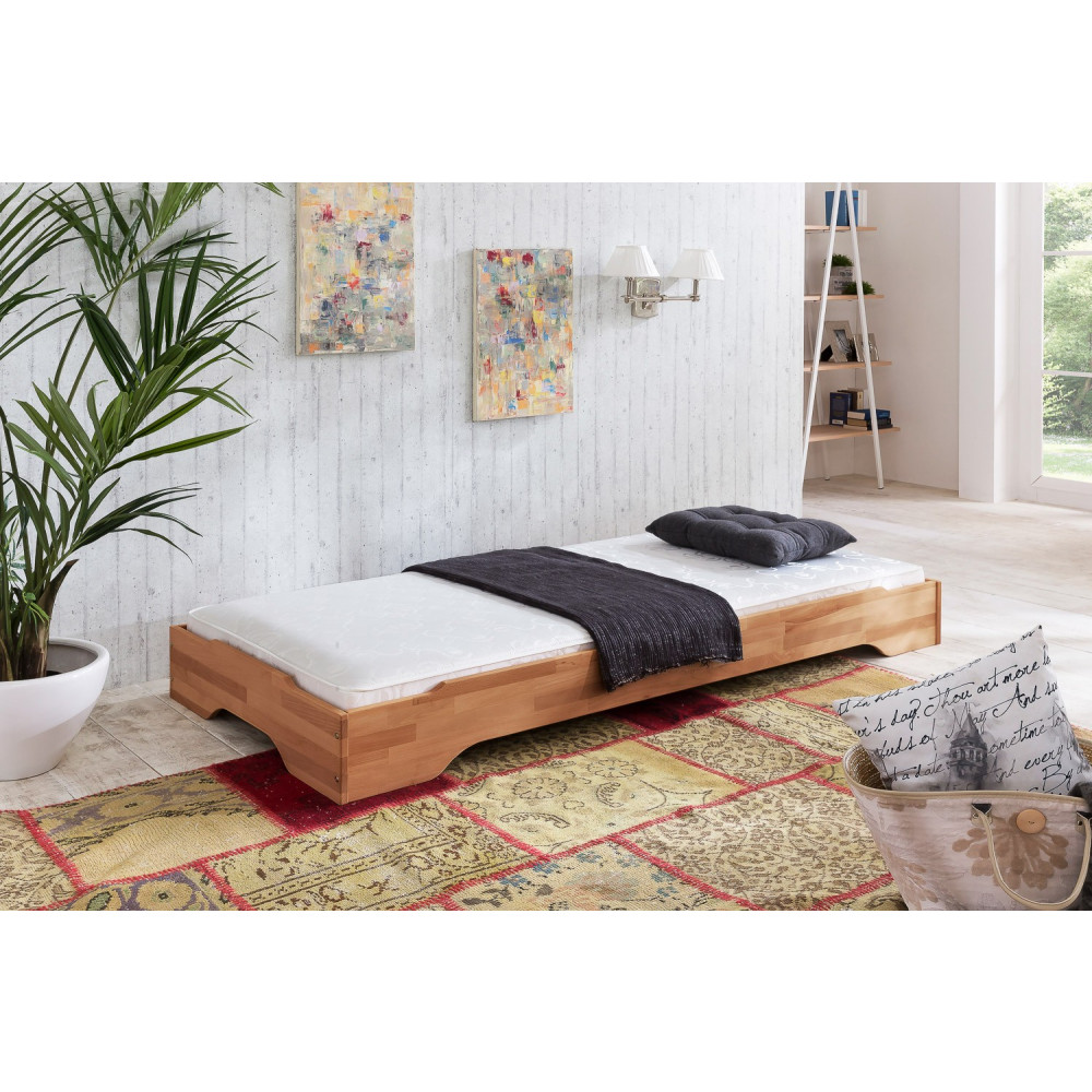 juist stapelbett 100x200 g stebett kernbuche matratze ester h3 kaufen m bel shop empinio24. Black Bedroom Furniture Sets. Home Design Ideas