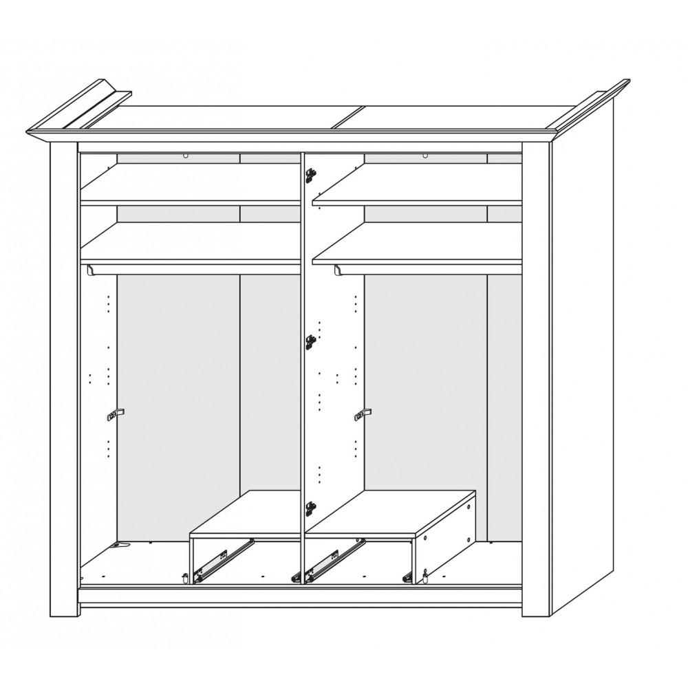 Schlafzimmer Set Rajada In Weiß Braun: LAGUNA Schlafzimmer Set Mit Schrank 4-trg Bett 200x200