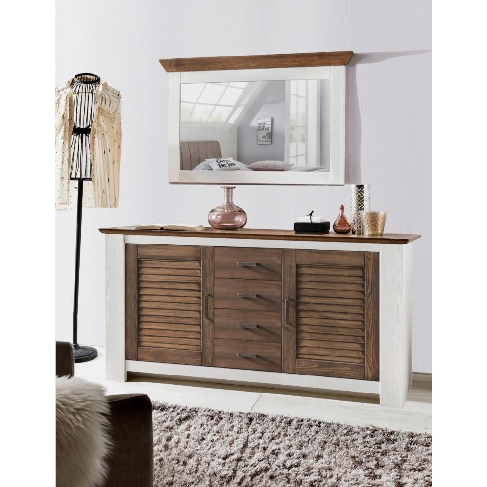 laguna h ngespiegel pinie massiv wei terra gewischt. Black Bedroom Furniture Sets. Home Design Ideas