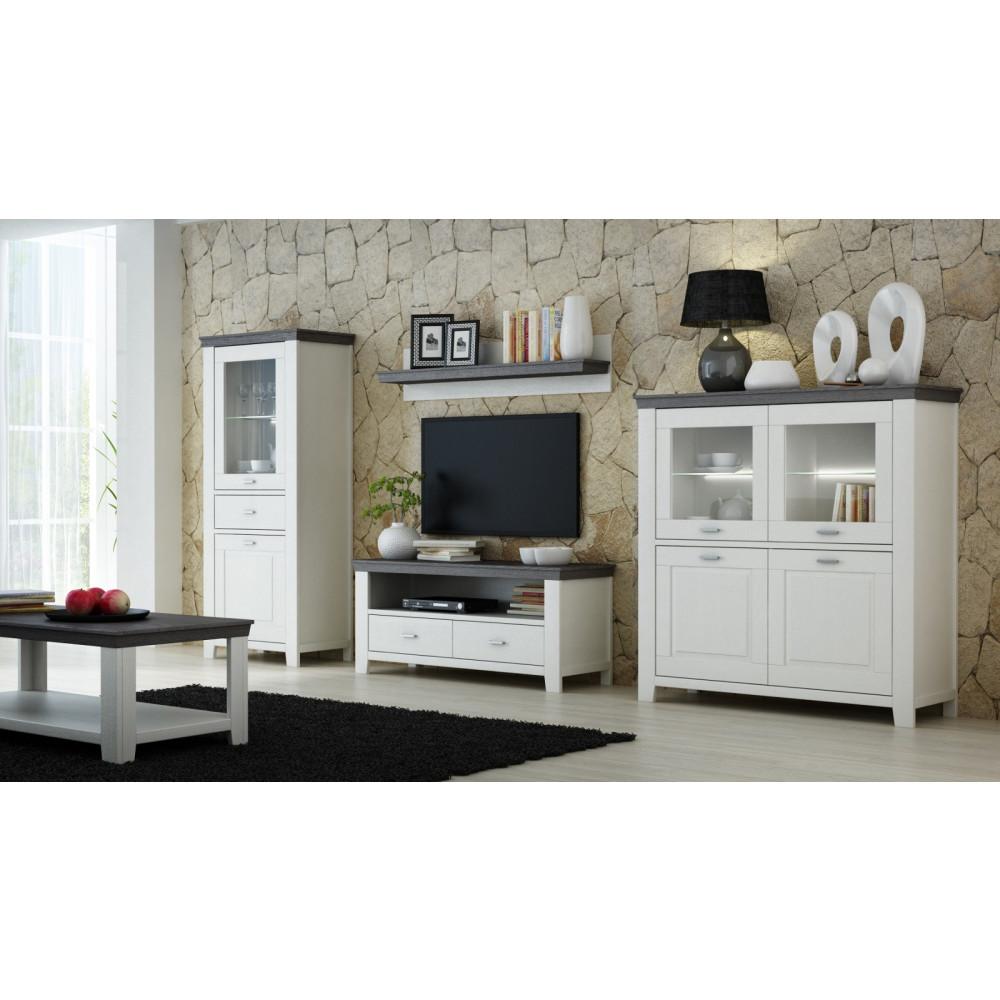 lavente tv lowboard 2 sk kiefer teilmassiv wei tr ffel. Black Bedroom Furniture Sets. Home Design Ideas