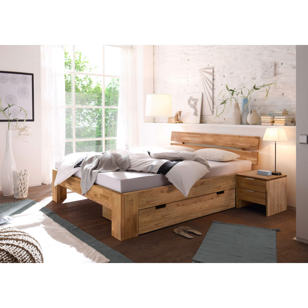lena 2 doppelbett 160x200 wildeiche massiv ge lt kaufen m bel shop empinio24. Black Bedroom Furniture Sets. Home Design Ideas