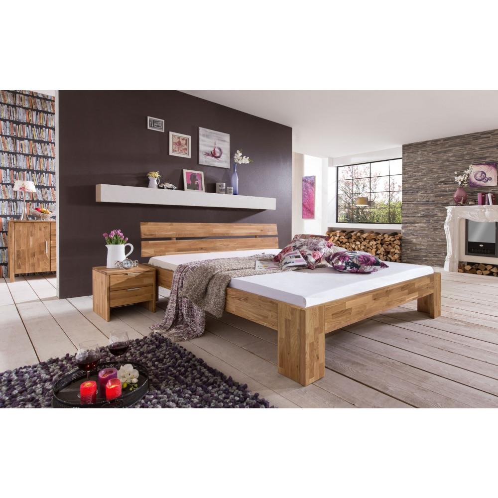 Lena 2 Doppelbett 200x200 Wildeiche Massiv Kaufen Möbel Shop Empinio24