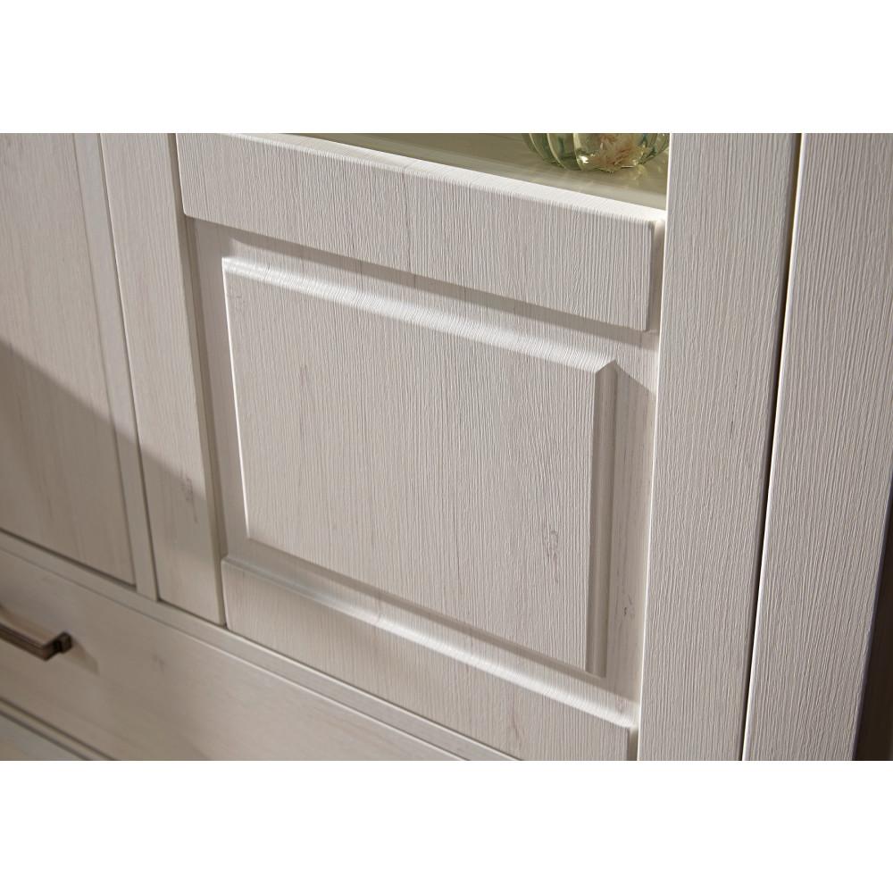 Wohnzimmer Sitzsack Chacos In Weiß Taupe: LIMA Weinschrank 4-trg Pinie Weiß + Taupe Inkl Beleuchtung