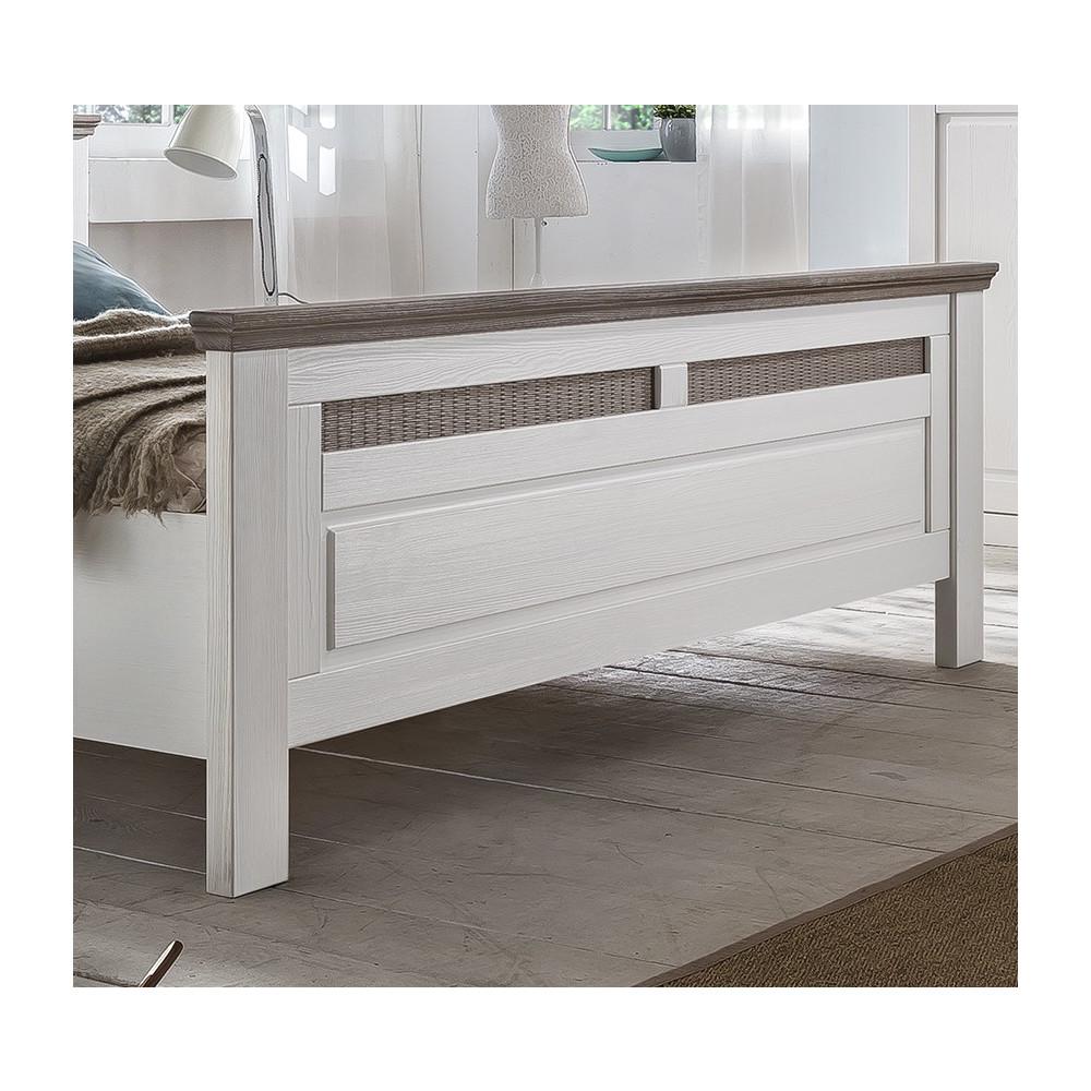 locarno schlafzimmer set dreht renschrank 6 t rig bett 200x200 pinie massiv wei grau kaufen. Black Bedroom Furniture Sets. Home Design Ideas