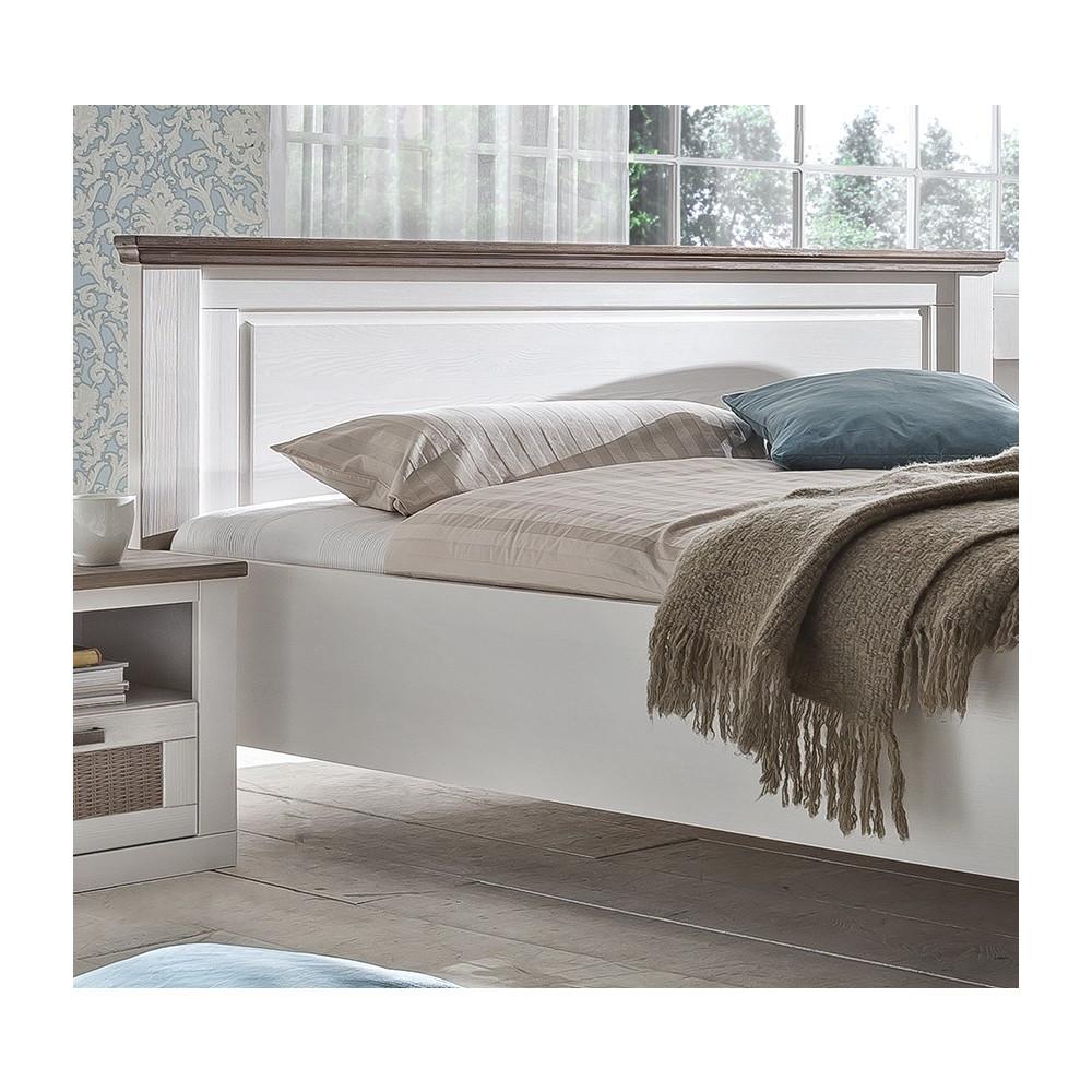 locarno doppelbett 180x200 pinie teilmassiv wei grau kaufen m bel shop empinio24. Black Bedroom Furniture Sets. Home Design Ideas