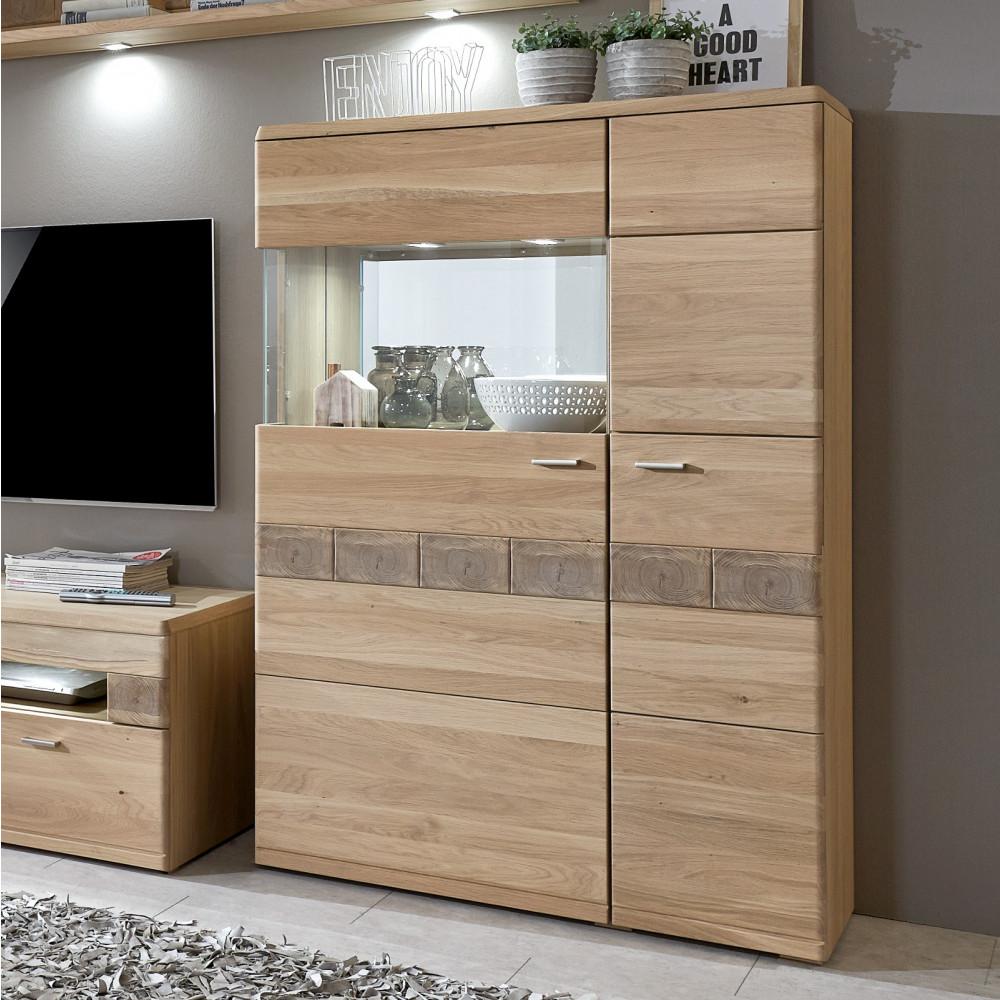 milano highboard 2 trg links eiche bianco ge lt teilmassiv kaufen m bel shop empinio24. Black Bedroom Furniture Sets. Home Design Ideas