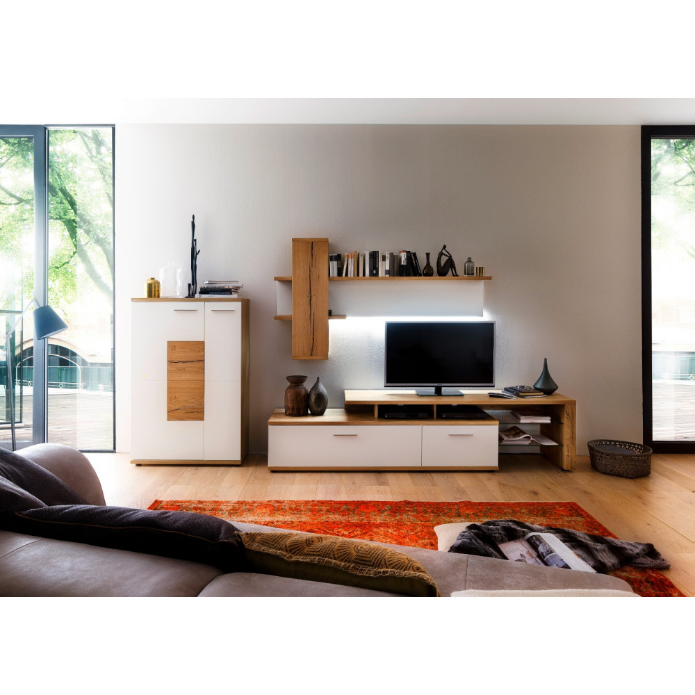 nizza von mca tv lowboard mit anbauelement 240 cm kaufen m bel shop empinio24. Black Bedroom Furniture Sets. Home Design Ideas