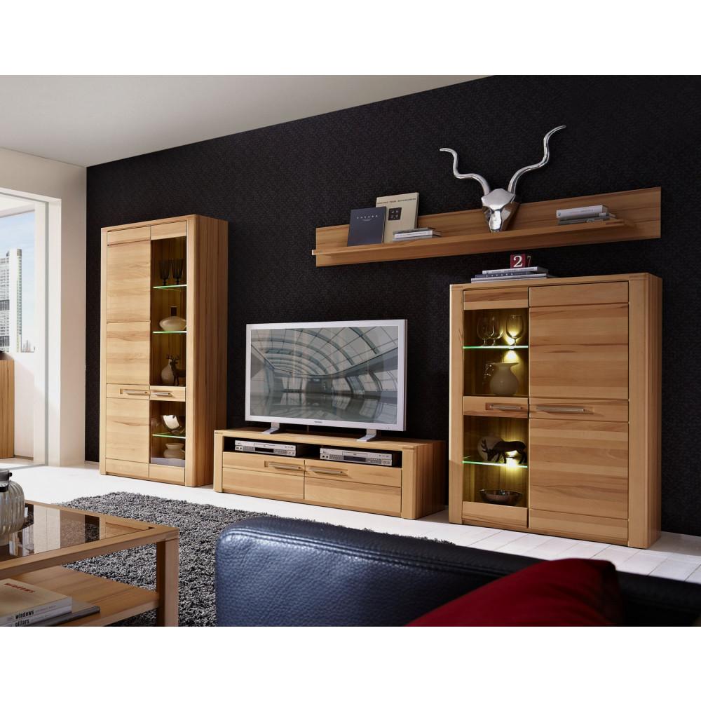 Wohnwand aus Kernbuche online kaufen   Empinio24