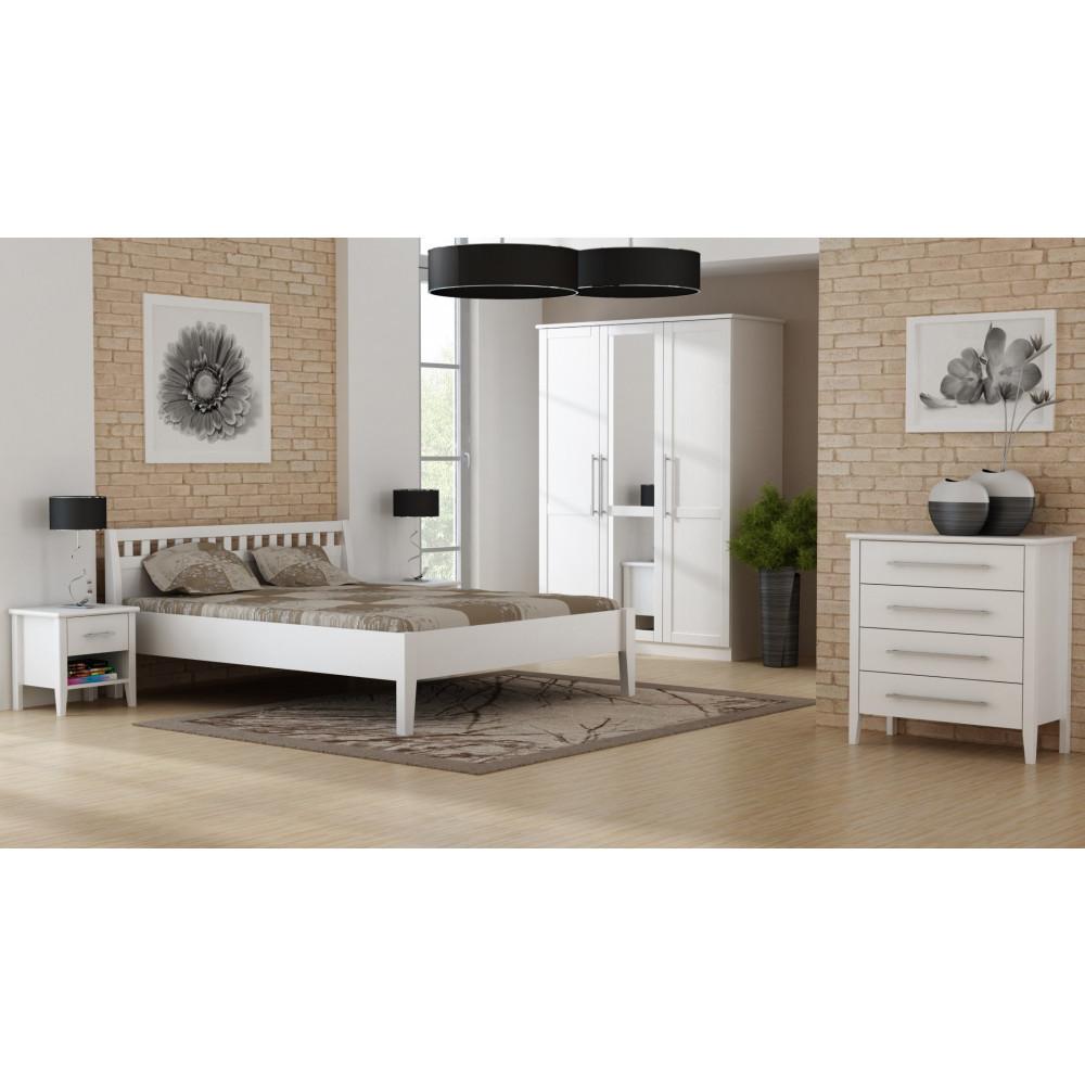 PAULA Komfortbett 180x200 Kiefer massiv weiß kaufen | Möbel Shop ...
