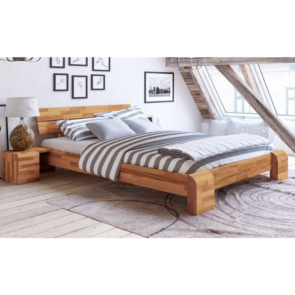 seti high doppelbett 180x200 kernbuche massiv kaufen m bel shop empinio24. Black Bedroom Furniture Sets. Home Design Ideas