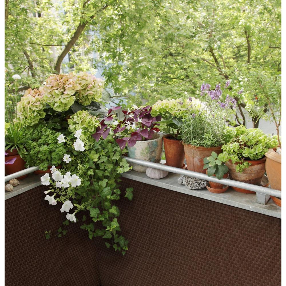 sichtschutzmatte polyrattan 90 cm meterware rostbraun kaufen m bel shop empinio24. Black Bedroom Furniture Sets. Home Design Ideas