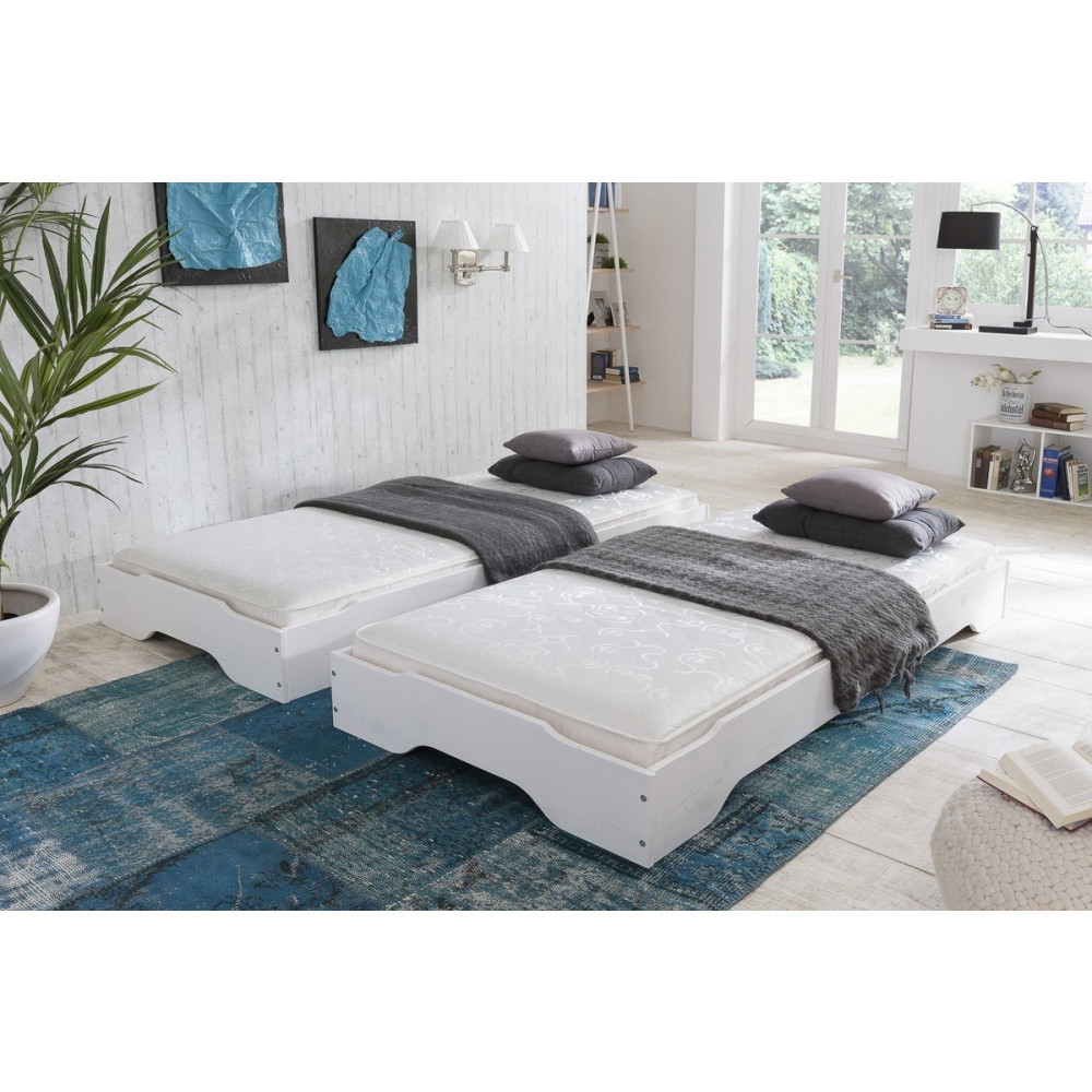 sylt stapelbetten 2x 90x200 kiefer massiv wei kaufen m bel shop empinio24. Black Bedroom Furniture Sets. Home Design Ideas
