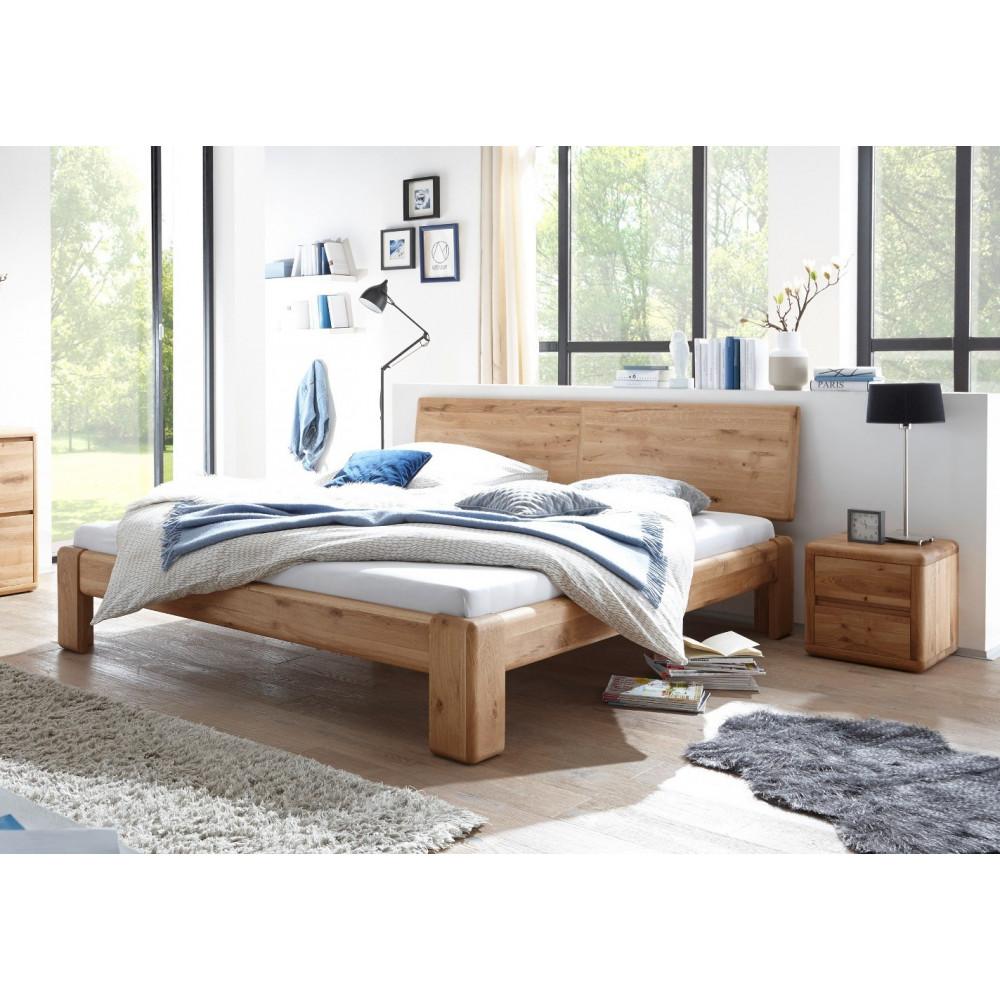 Verona Bett 200x220 Wildeiche Massiv Geölt überlänge Kaufen