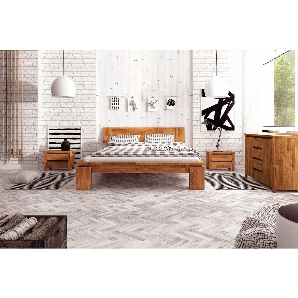 VOLO High Doppelbett Wildeiche massiv geölt kaufen | Möbel Shop ...