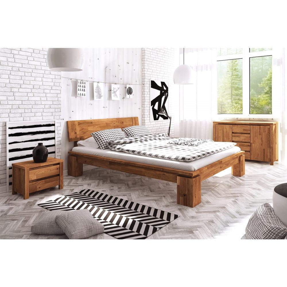 VOLO High Doppelbett Wildeiche massiv kaufen   Möbel Shop Empinio24