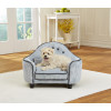 KAHU Hundebett Katzenbett blau-grau mit Kissen und Tasche - KaHu Pet Furniture