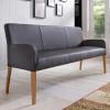 ALFO Polsterbank Sitzbank 123 cm Echtleder Leder Beine aus Buche oder Eiche