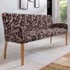 ALFO Polsterbank Sitzbank 183 cm Stoff / Textil Beine aus Buche oder Eiche