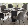 Essgruppe Keramik 7-teilig Tisch Stühle hell und dunkel grau Ferrara