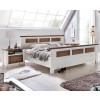 LAGUNA Schlafzimmer Set mit Schrank 4-trg Bett 160x200 Pinie teilmassiv weiß terra gewischt