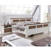 LAGUNA Schlafzimmer Set mit Schrank 5-trg Bett 200x200 Pinie teilmassiv weiß terra gewischt