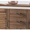 LAGUNA Sideboard 2-trg. 4 Sk. Pinie teilmassiv weiß terra gewischt